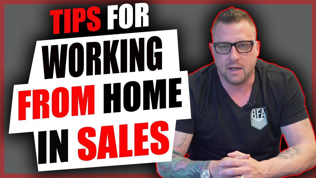 Tips for working from home in sales