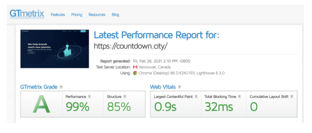 performance report bars
